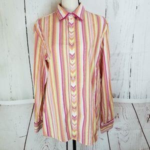 INC International Concepts Button Shirt Sz L Pink